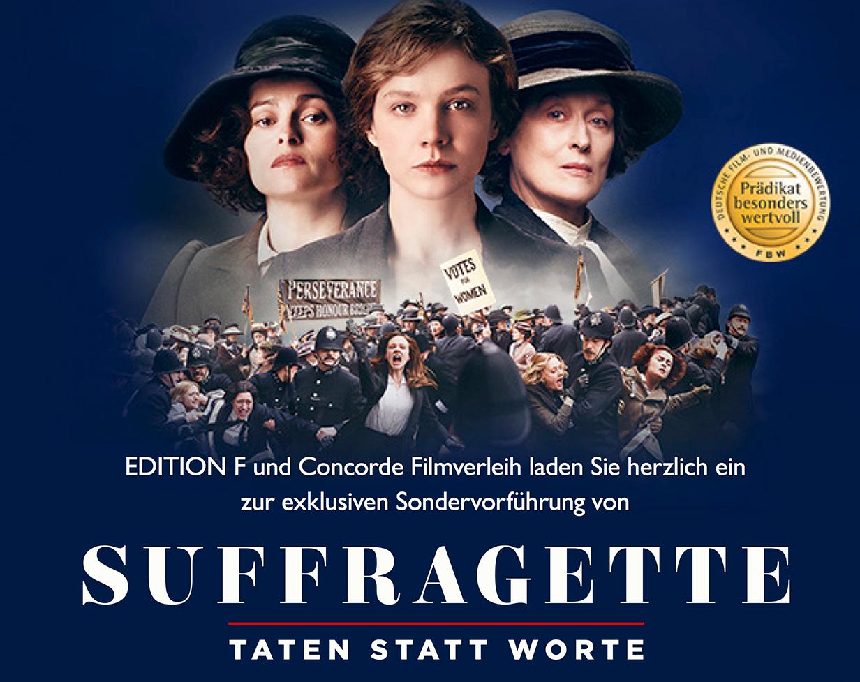 Güvenlik Filmi: Suffragette Filmi Almanya'da Gösterimde